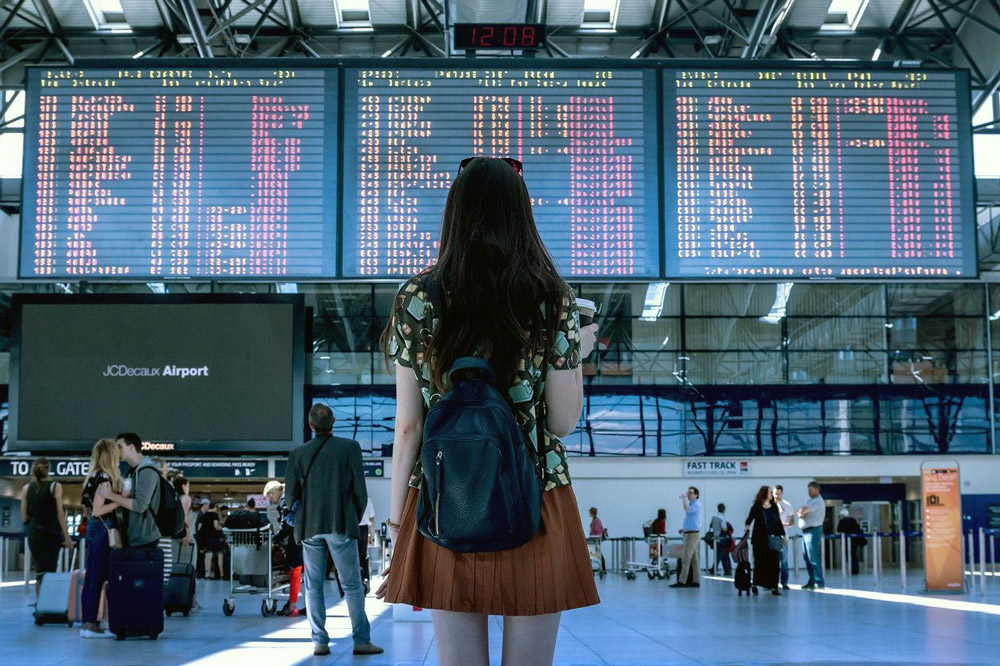Vuelos en avión por primera vez, todos los pasos